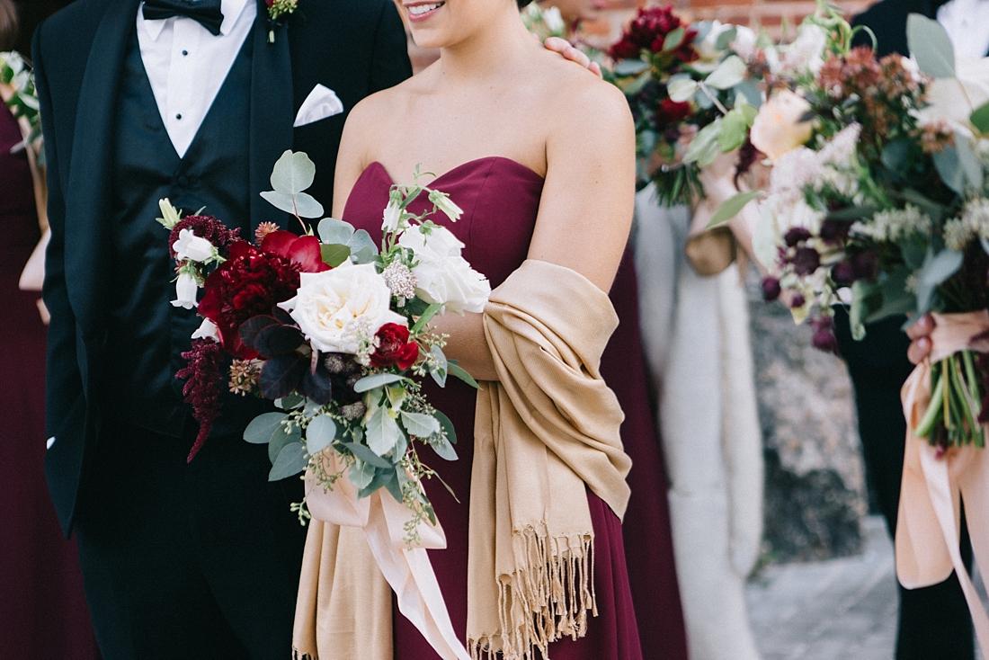 Marryland Weddings Modern Fall American Visionary Arts Museum Burgundy Gold Sarah Murray Photography_0857.jpg