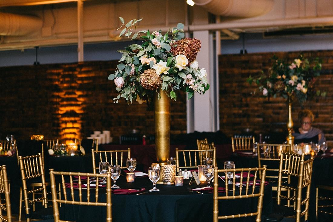 Marryland Weddings Modern Fall American Visionary Arts Museum Burgundy Gold Sarah Murray Photography_0874.jpg