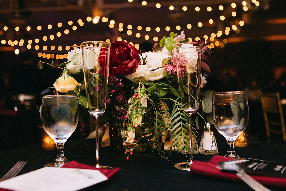 Marryland Weddings Modern Fall American Visionary Arts Museum Burgundy Gold Sarah Murray Photography_0873.jpg