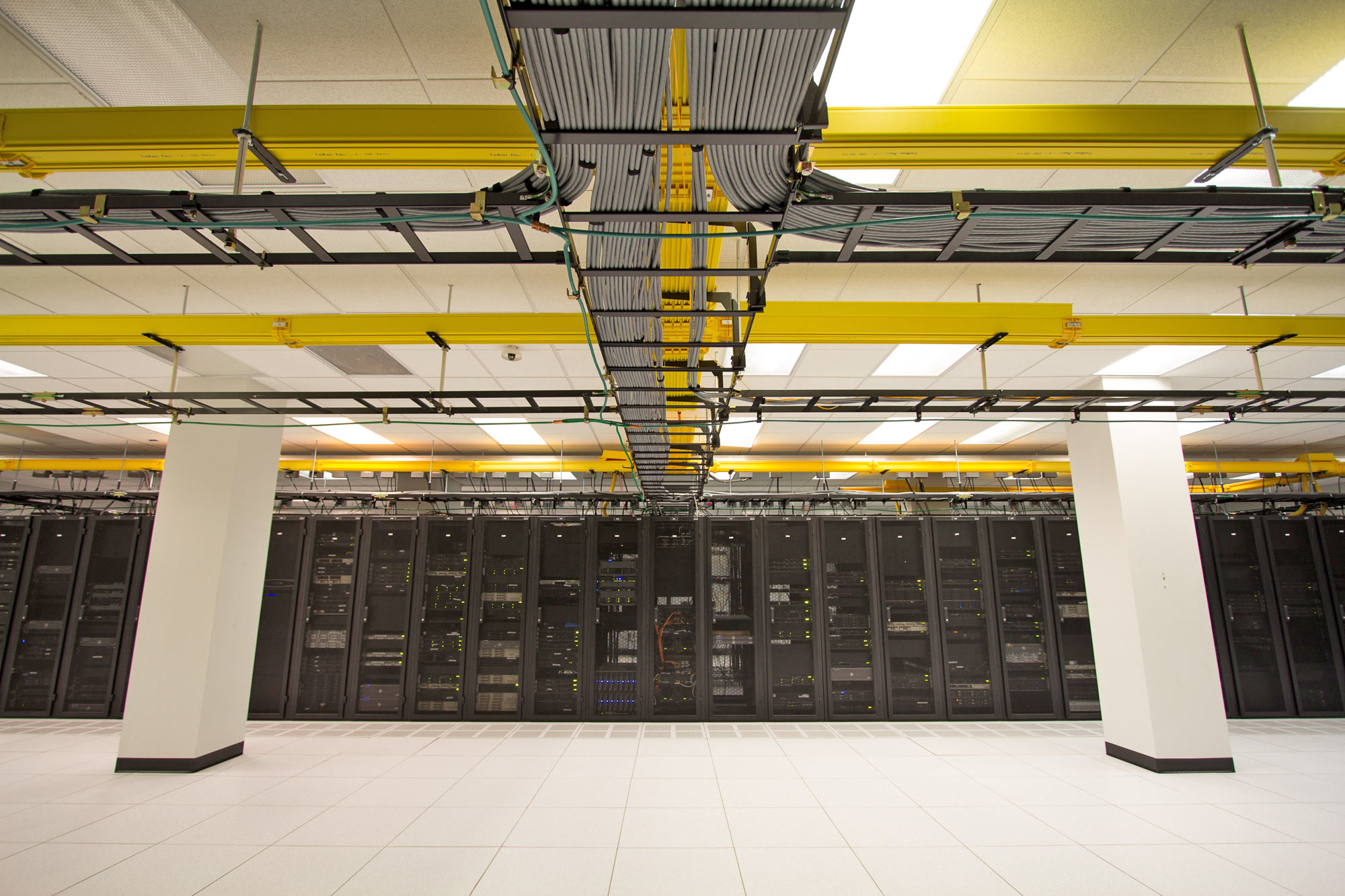 High-density areas of the facility allow for cabinets with up to 10kW.