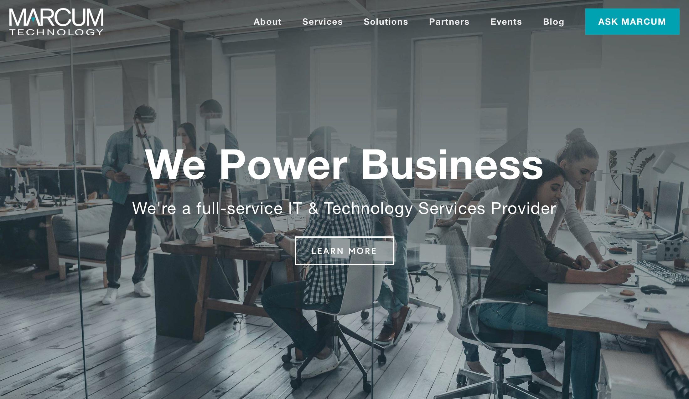 New Marcum Technology Website