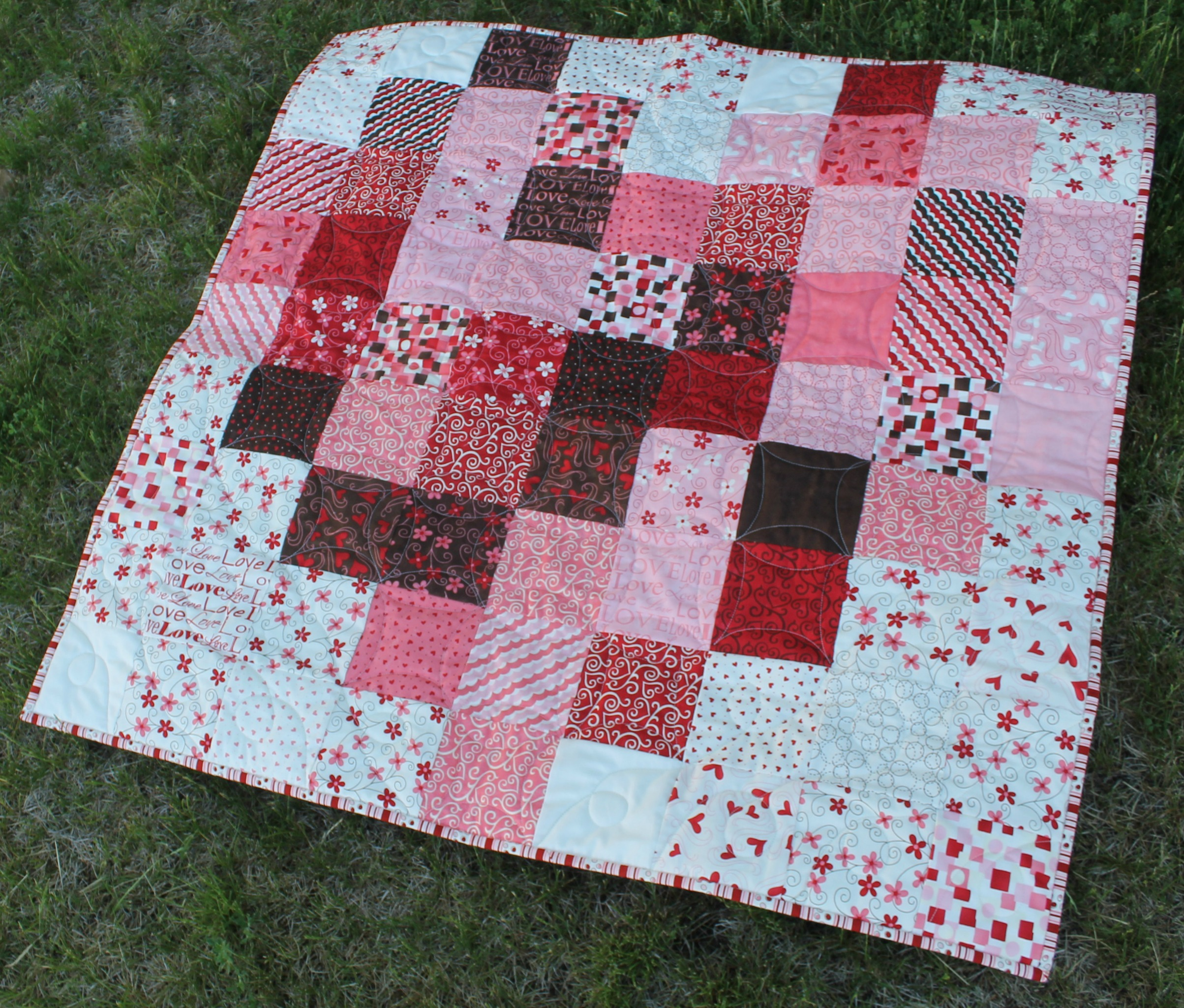 Pixelated Heart by Katie Mae Quilts