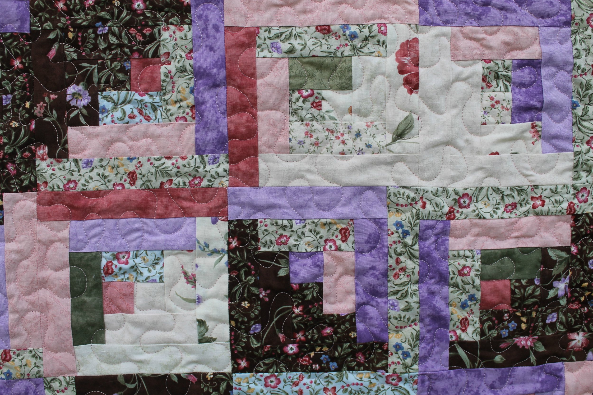 Wildflower Log Cabin - Katie Mae Quilts