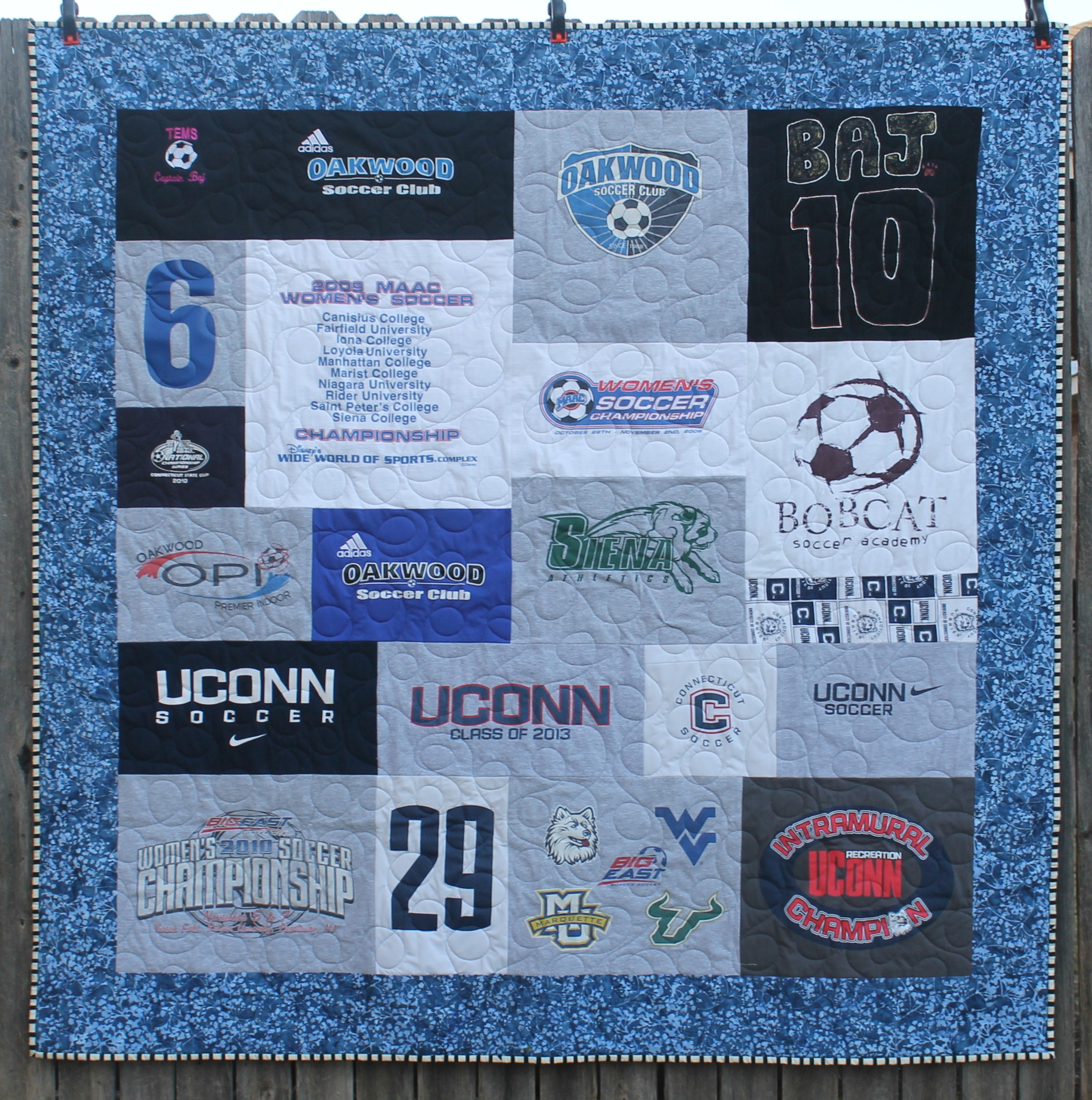 Soccer Snuggles - a T-Shirt Quilt by Katie Mae Quilts