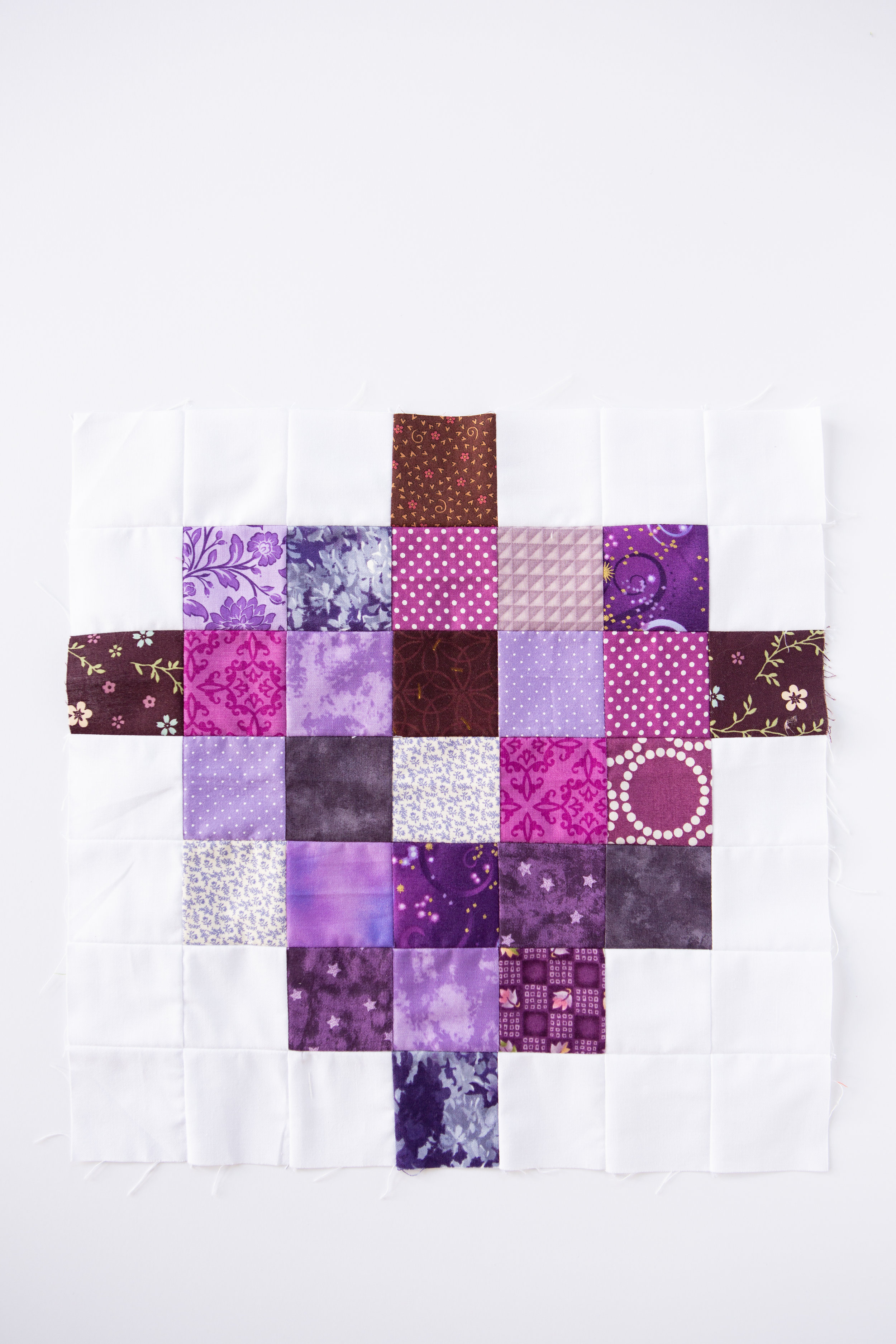 Grapes of Fabric - A Fruit Salad Block by Katie Mae Quilts