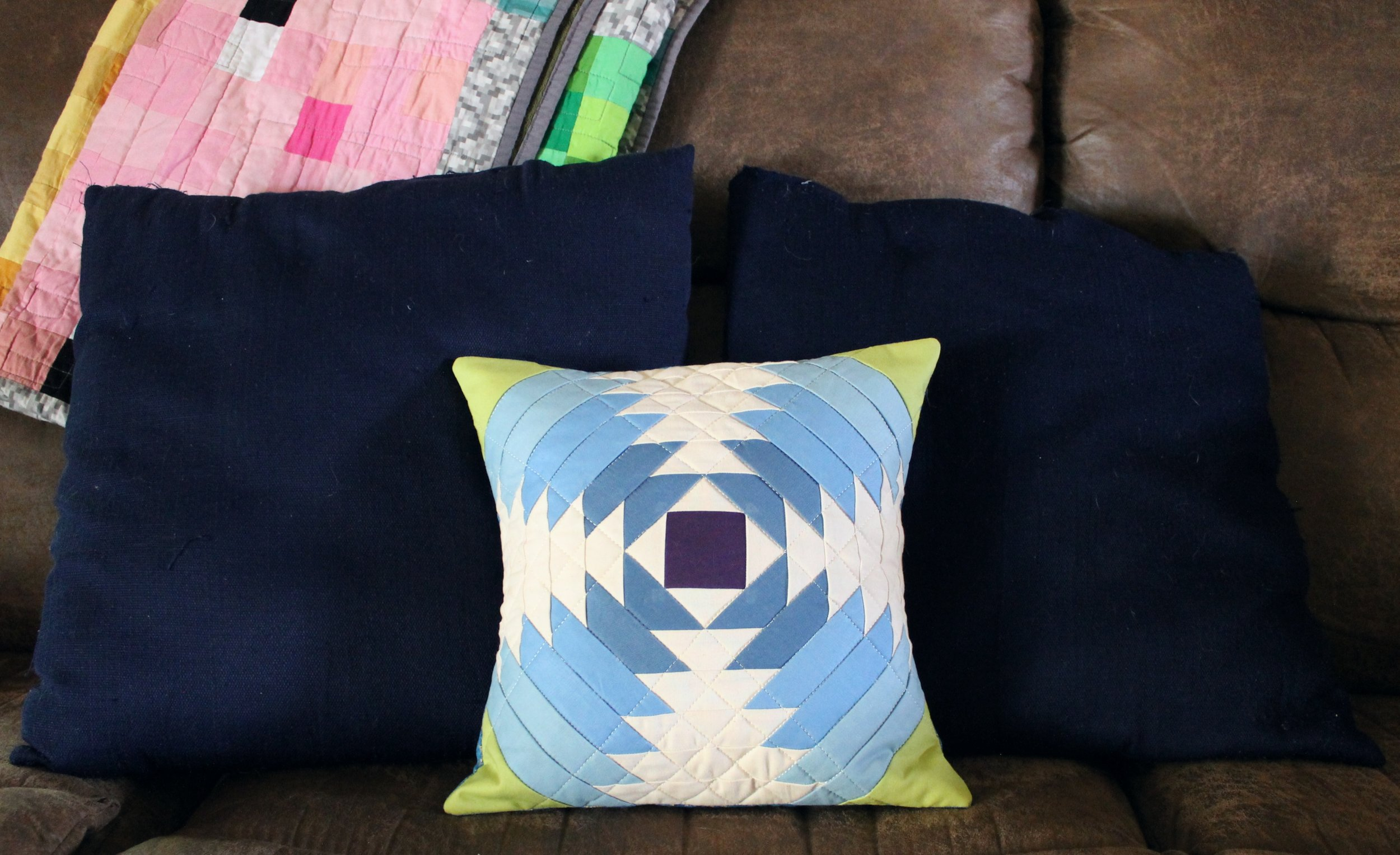 Pineapple Quilt Pillow by Katie Mae Quilts