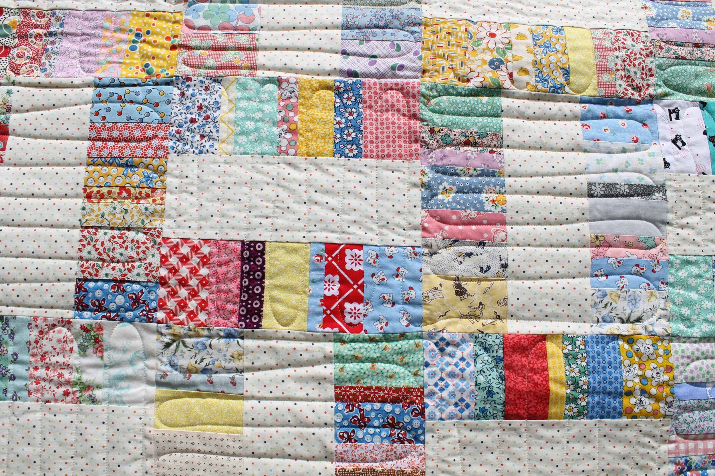 Scrappy Happy Rails by Katie Mae Quilts