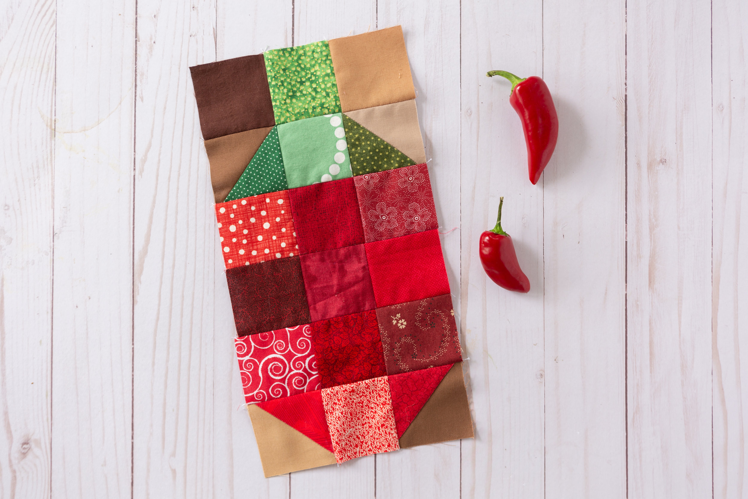 Jalapeño - a Veggie Patch Quilt Block by Katie Mae Quilts