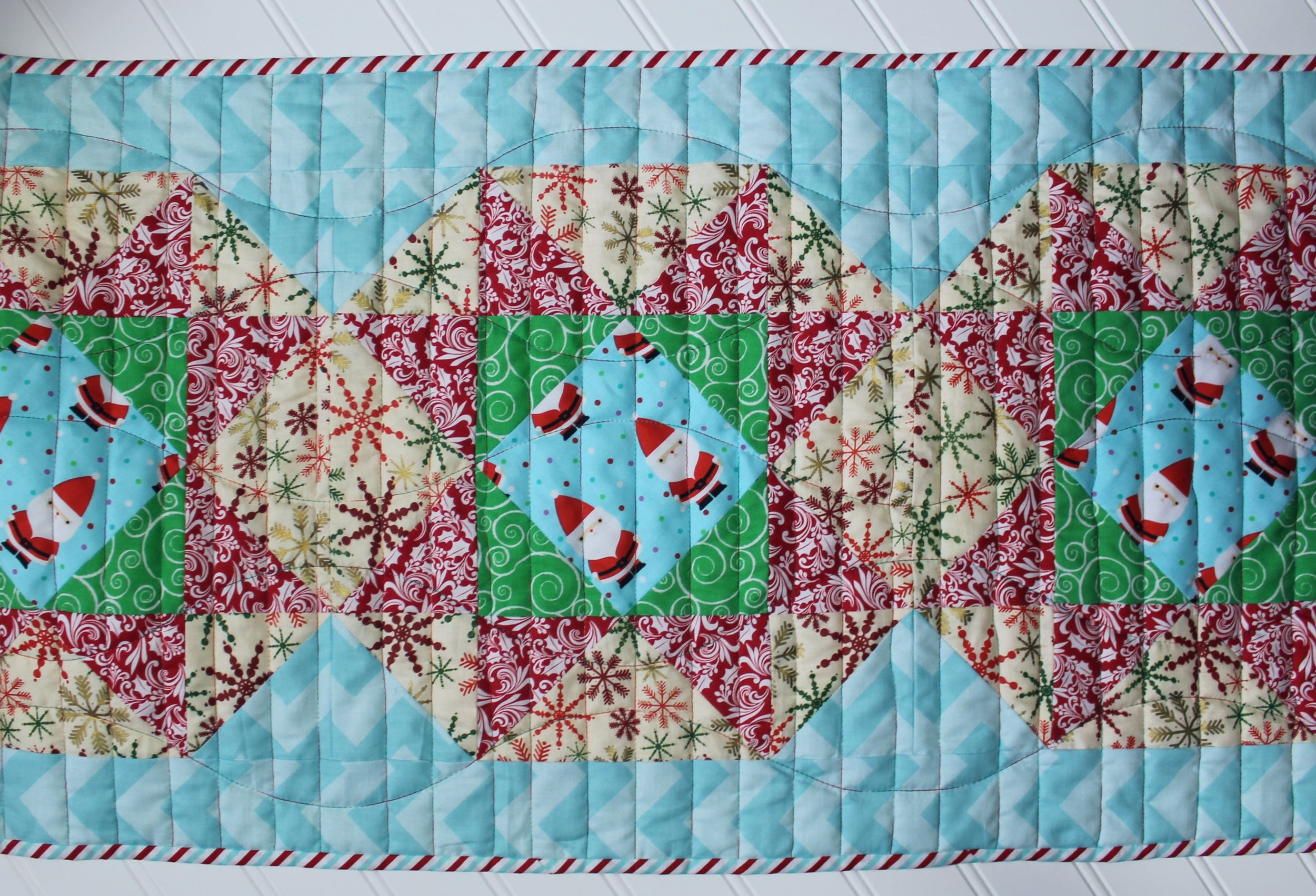 Christmas Table Runner by Katie Mae Quilts