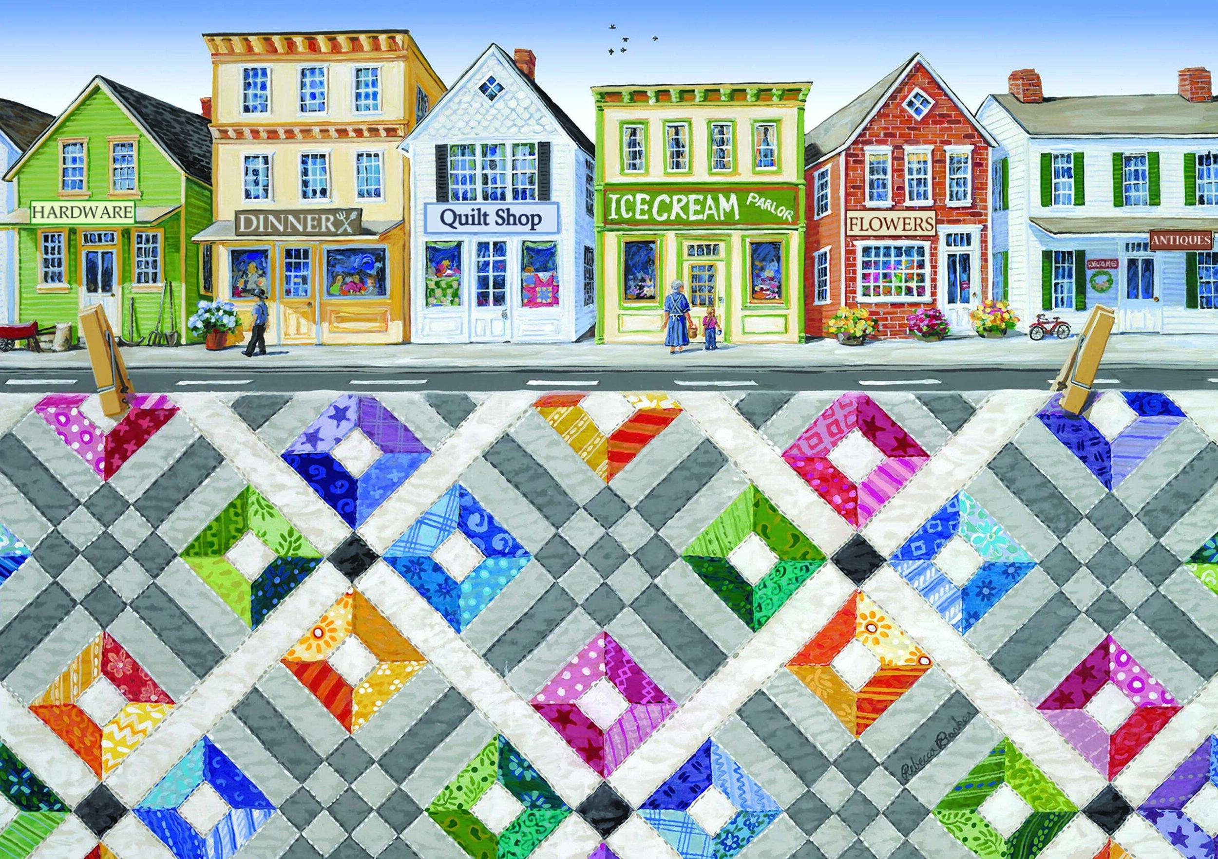 Main Street Rainbow by Rebecca Barker