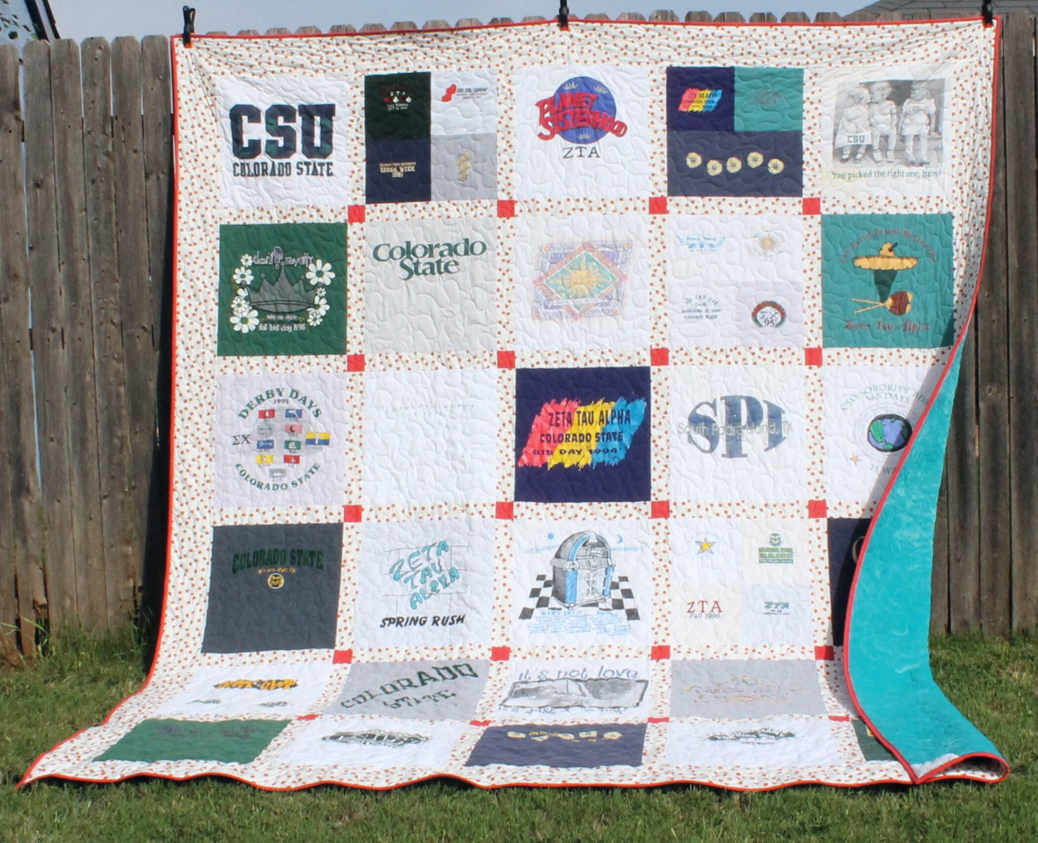 Heather's College Memories - a T-Shirt Quilt by Katie Mae Quilts