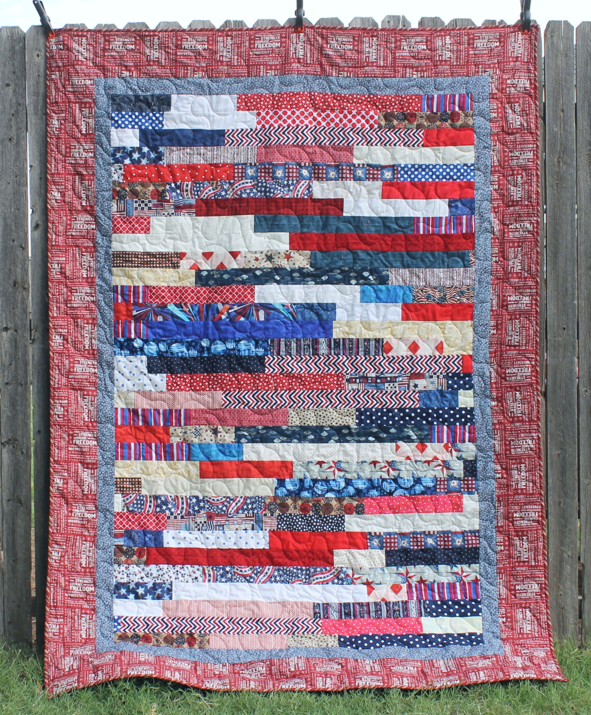 Qovf Jelly Roll Race A Finished Quilt Katie Mae Quilts