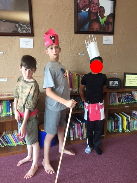 A Guard, the King of Lower Egypt and Menes King of Upper Egypt prepare for battle to unite Upper and Lower Egypt.