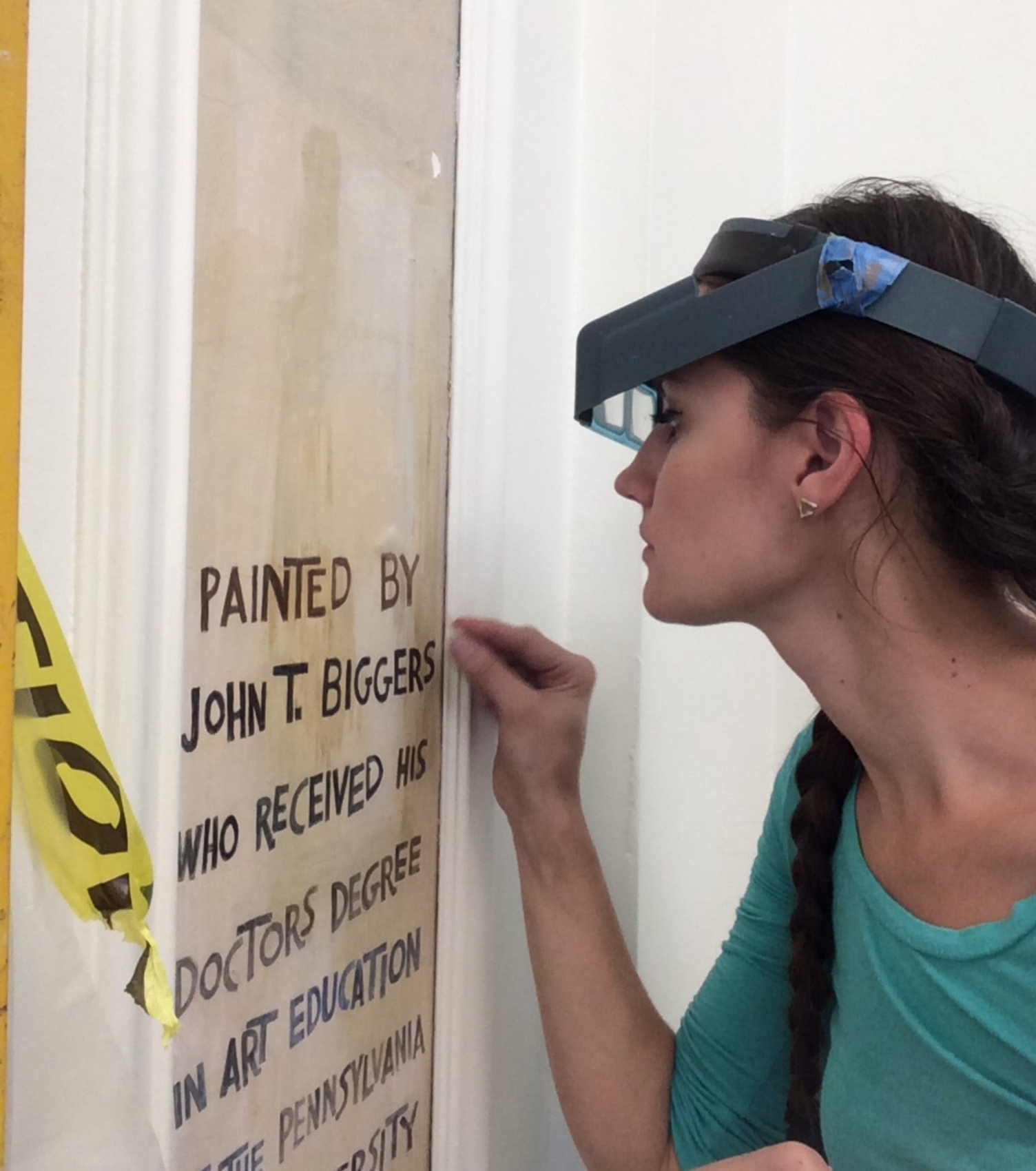 Artist  Jacintha Clark,  whose work is featured in  Victoriana Reimagined , works in architectural conservation