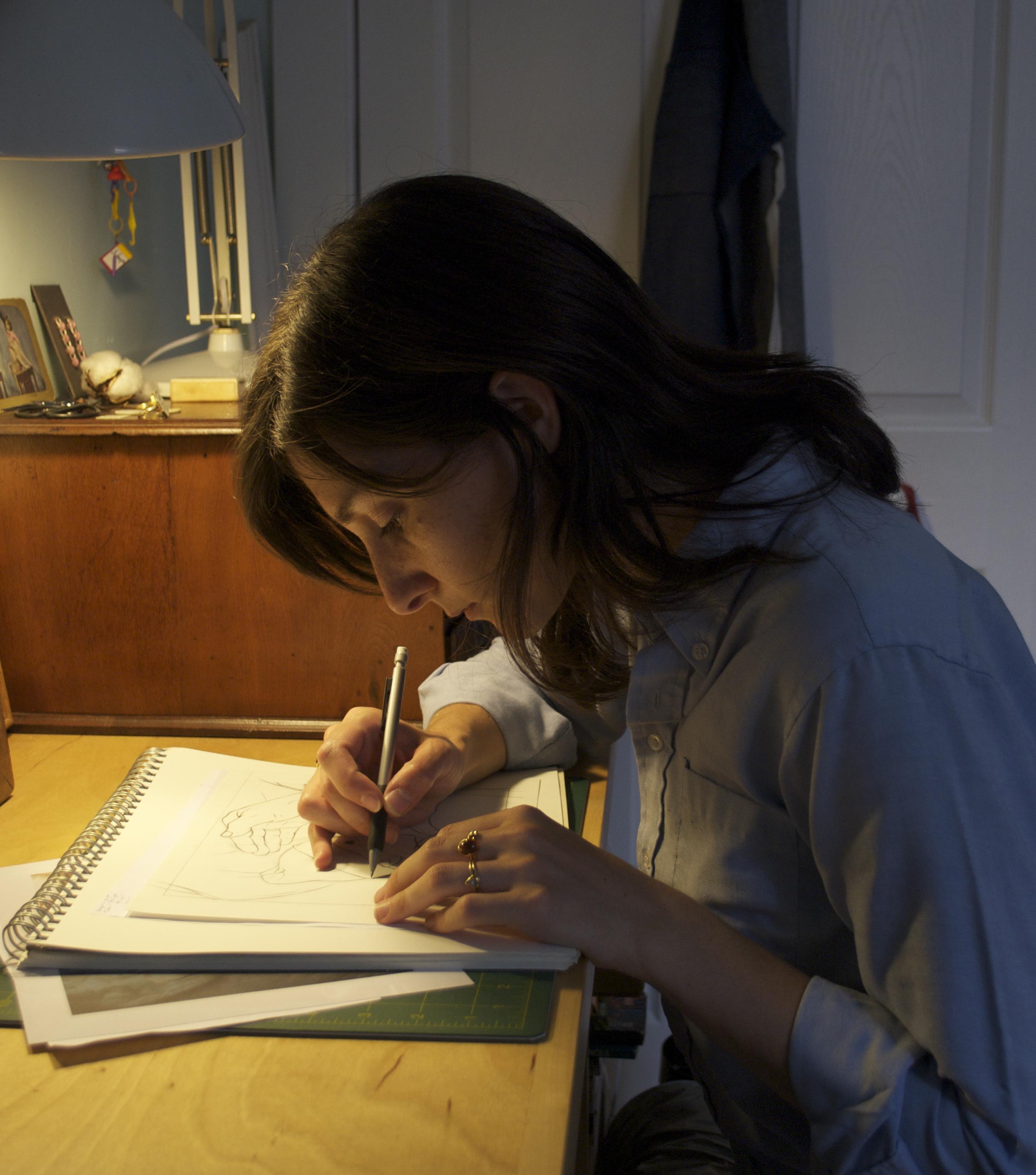Melanie Bilenker in her studio