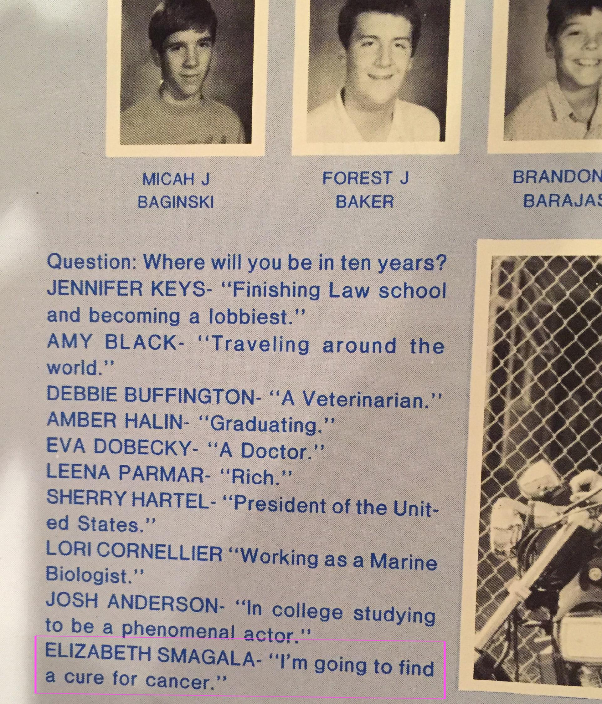 Liz's 8th Grade Yearbook