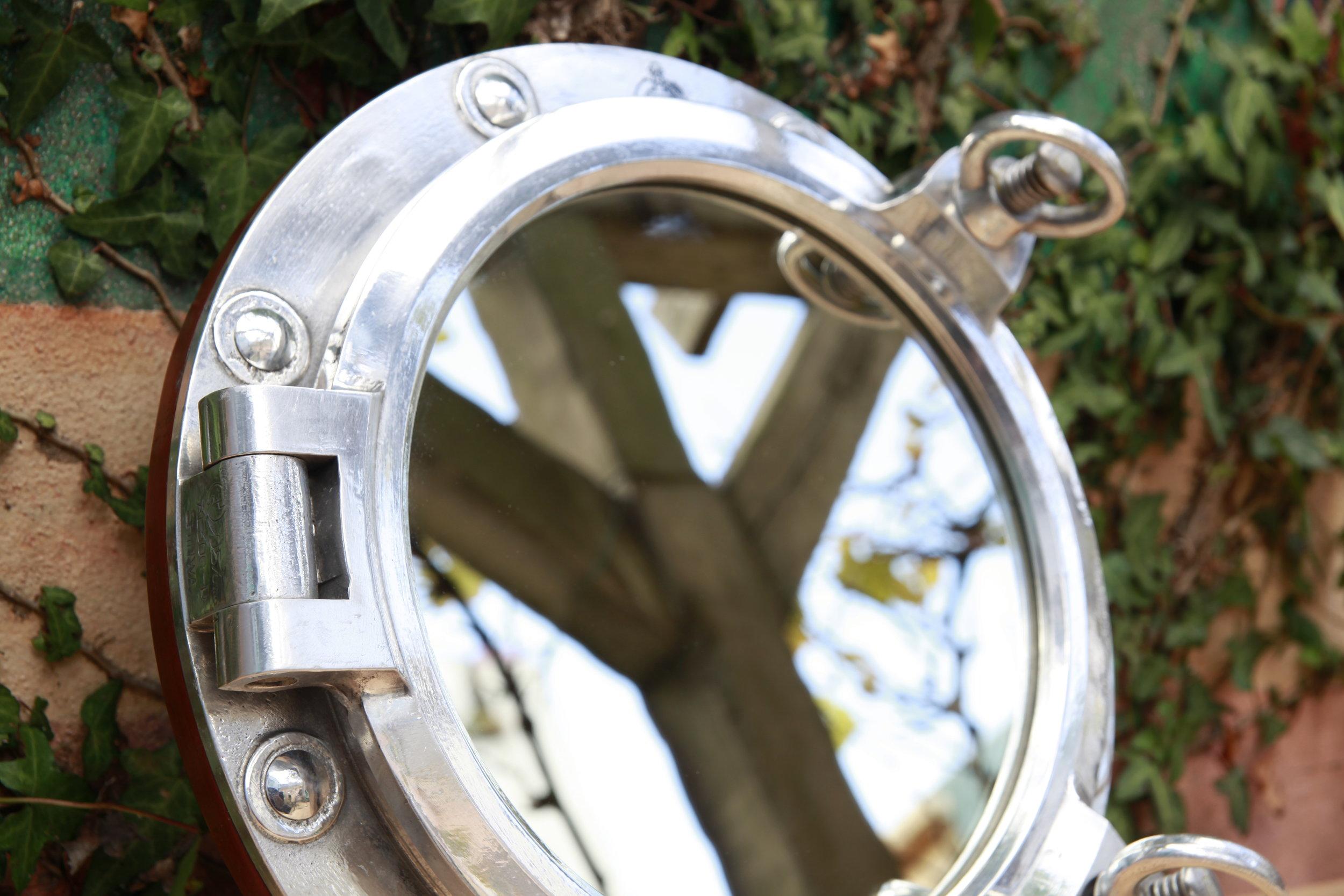 Double Latch Porthole Mirror