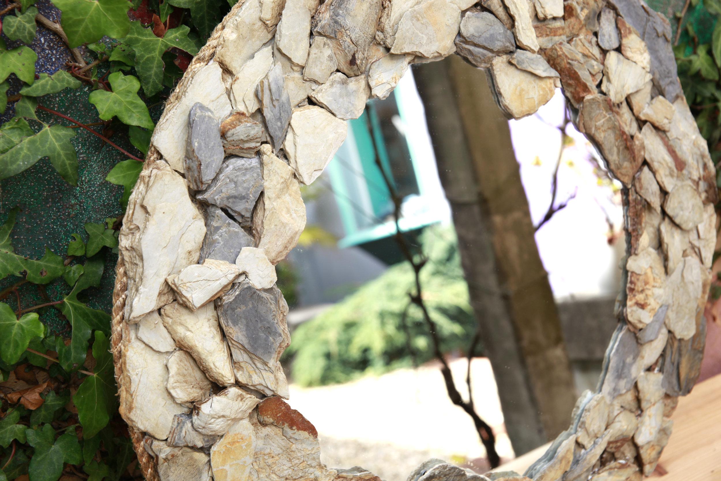 Slate Circle Mirror