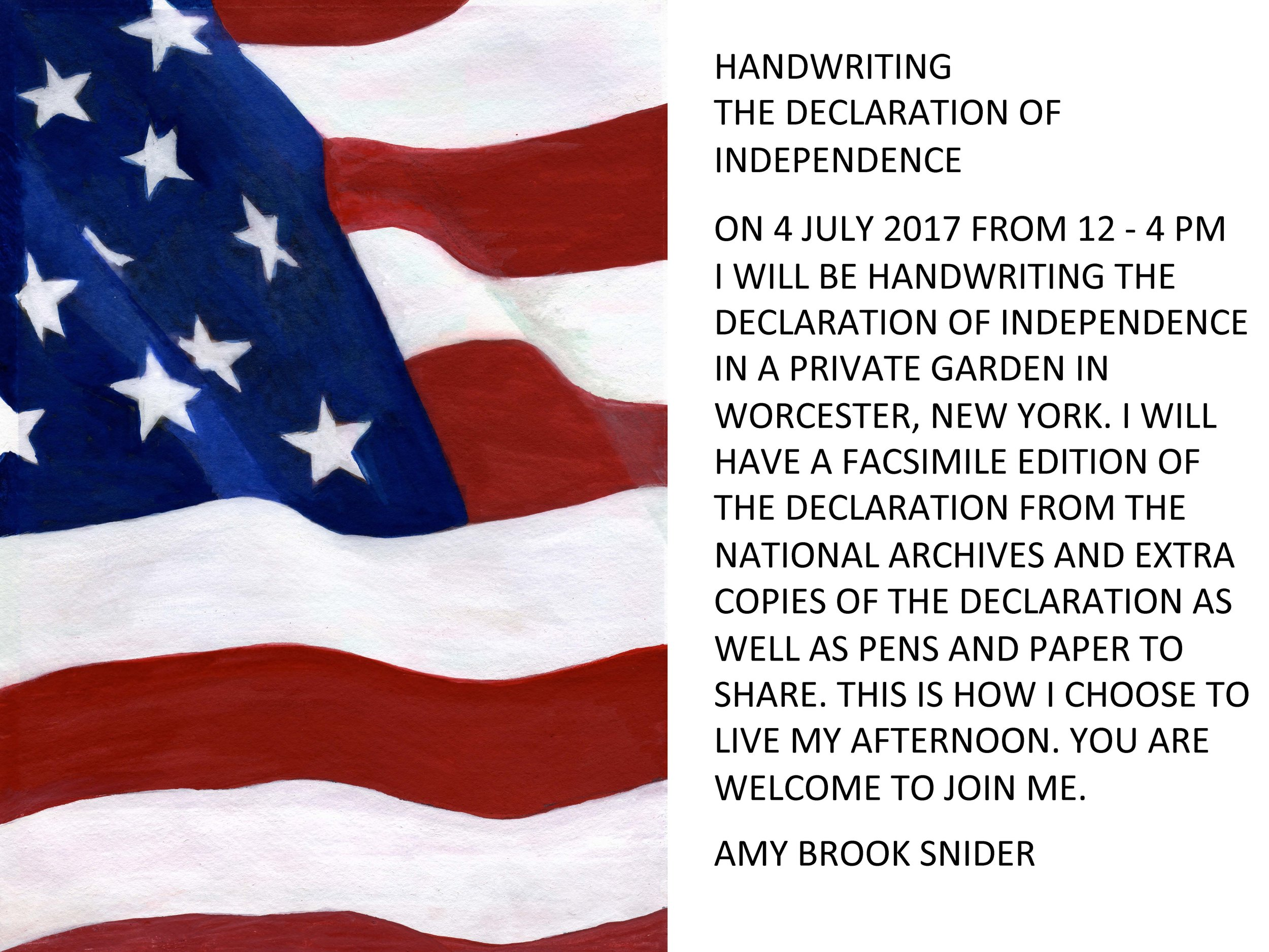 4 july 2017independence dayworcester, Ny - collaborator amy brook snider