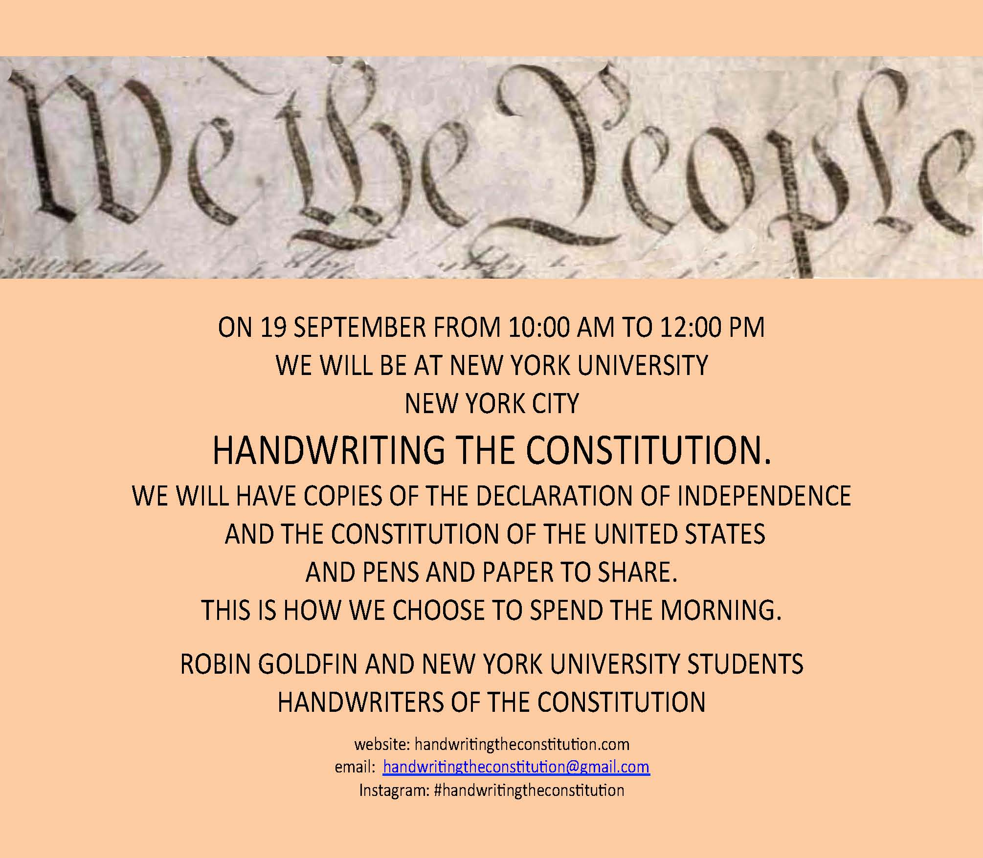 19 september 2017new york city - collaborators robin goldfin andnyu students