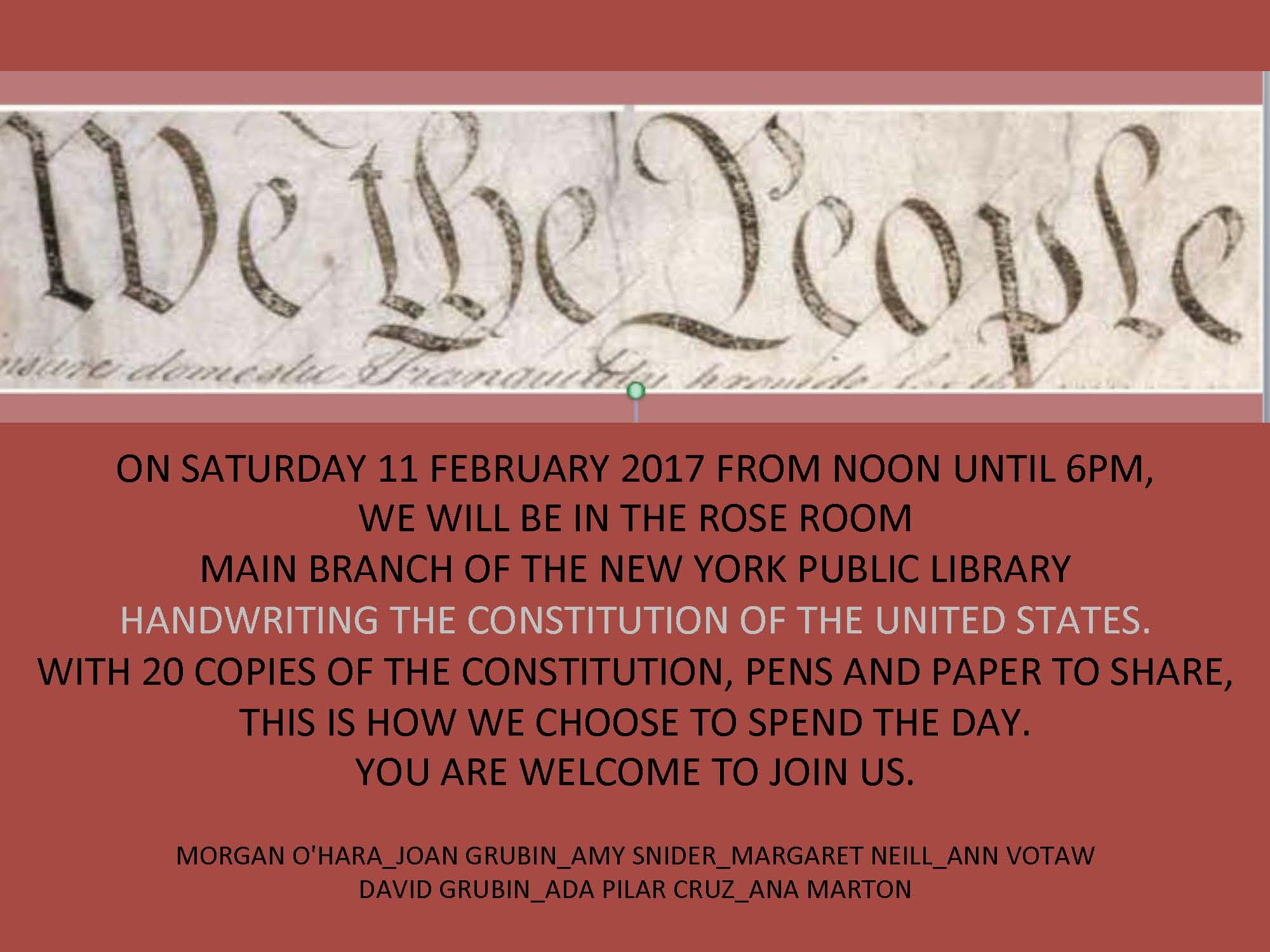 #2 ___ 11 FEBRUARY 2017 NEW YORK CITY