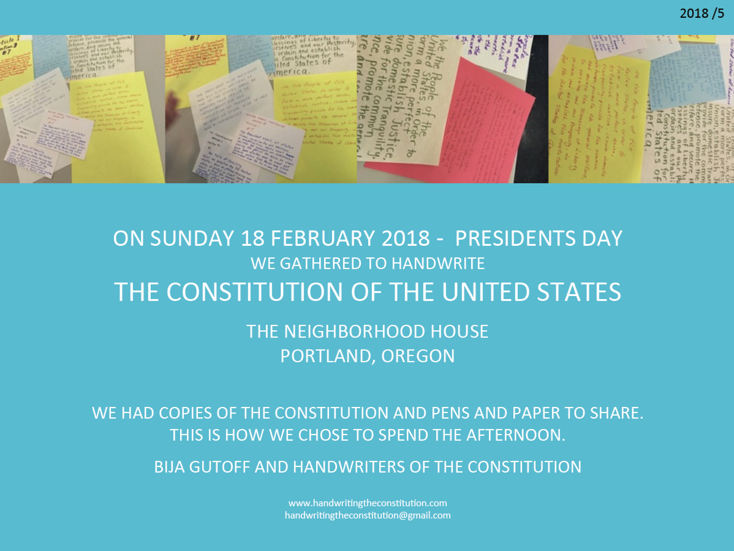 18 FEBRUARY 2018PRESIDENTS DAYportland, or - SESSION 45collaborator bija gutoff