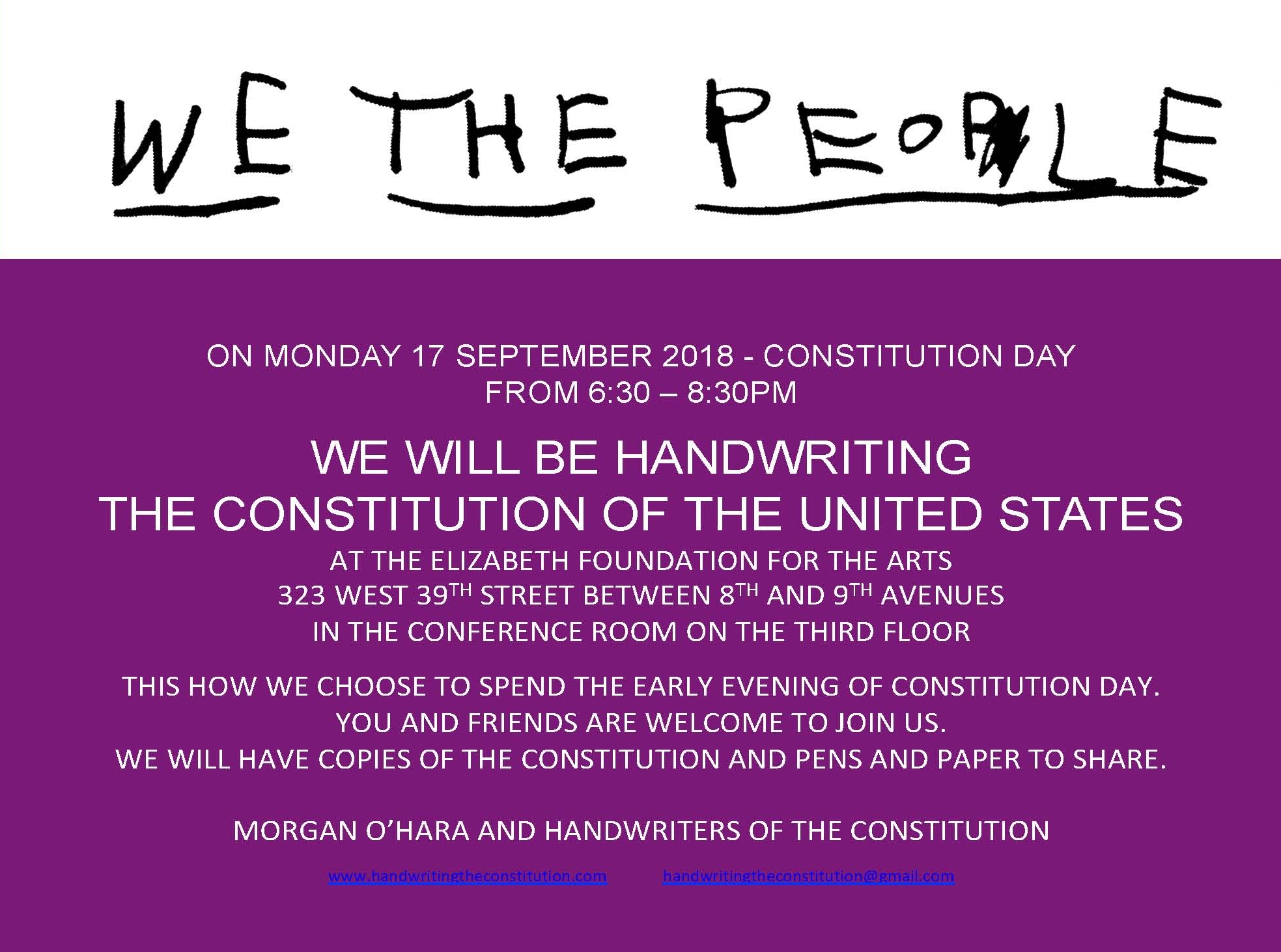 17 September 2018constitution dayNew York City - session 66morgan o'hara