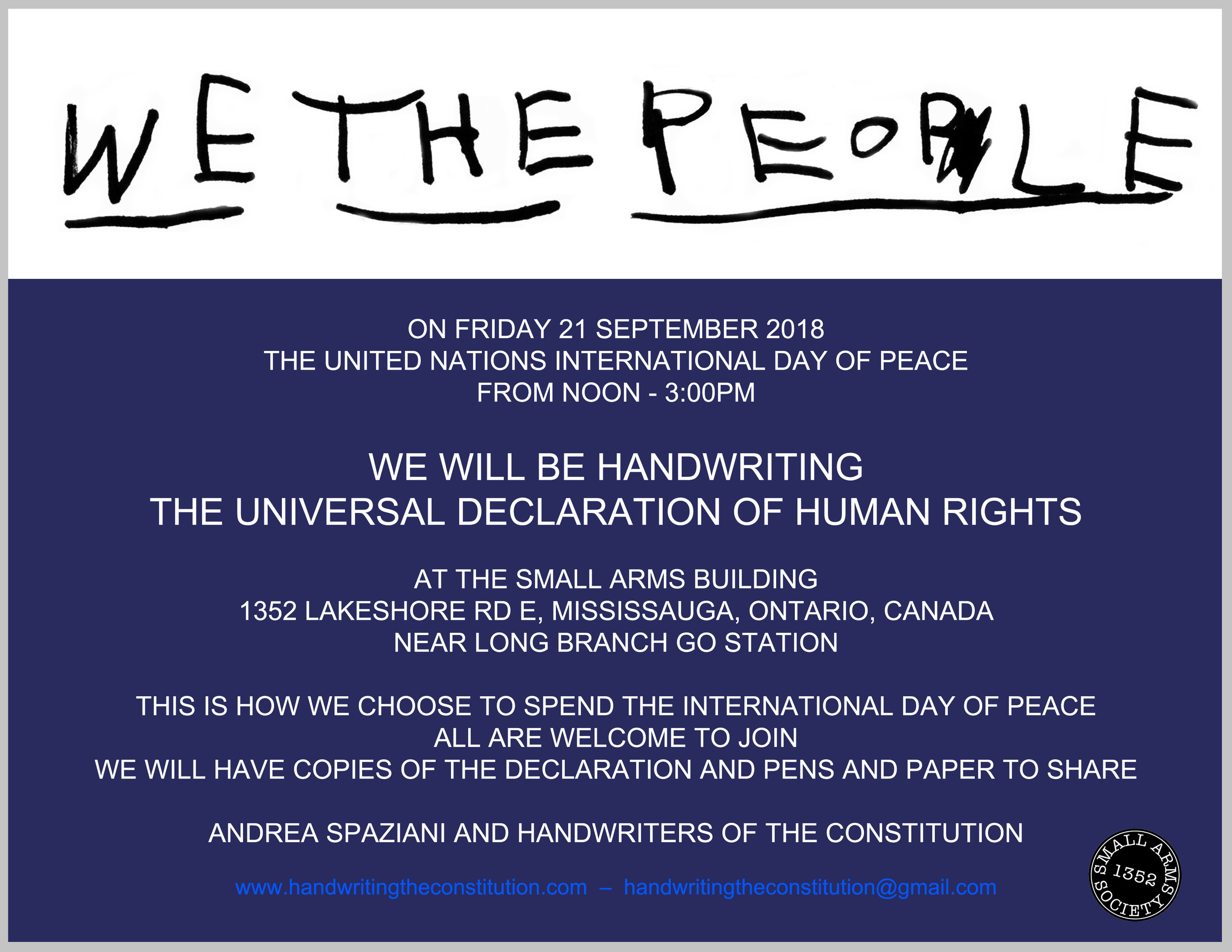 21 September 2018mississauga, Canada - session 67collaborators andrea spaziani and the small arms society