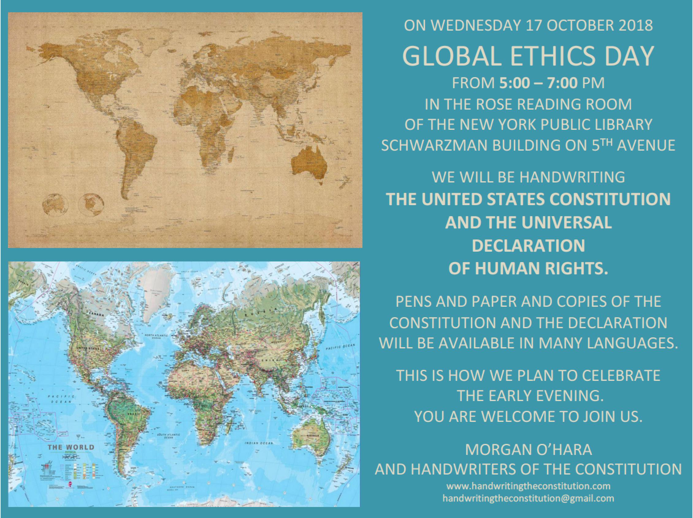 17 october 2018global ethics dayNew York City - session 72morgan o'hara