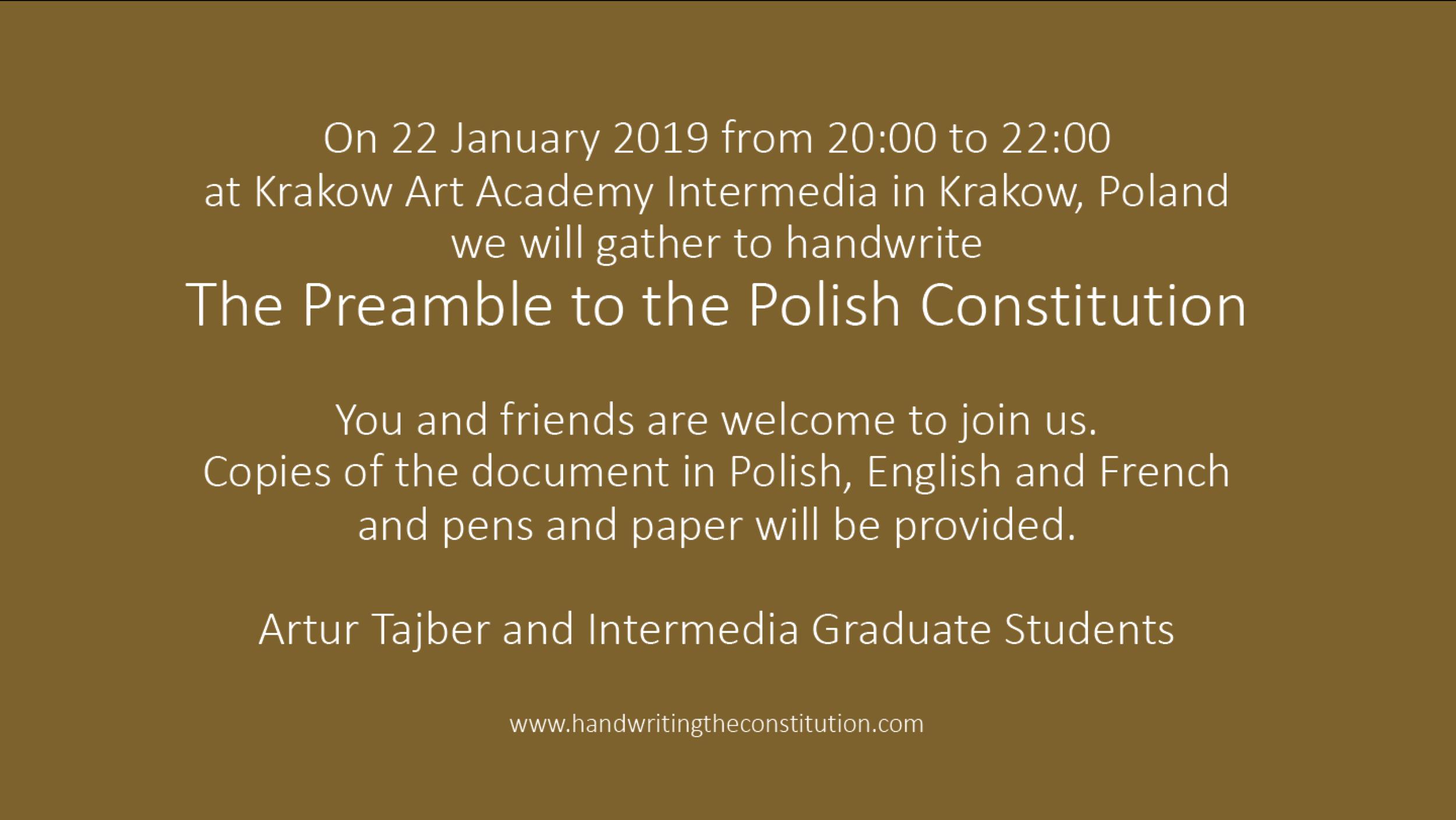 22 january 2019krakow, poland - Session 89collaborators artur tajber andintermedia graduate students