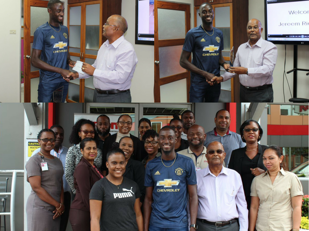 Gold Medalist pays courtesy call to Kenson Group - Commonwealth gold-medallist, Jereem Richards, kept his promise when he paid a courtesy call recently to former San Fernando Mayor and founder of the Kenson Group of companies, Kenneth Ferguson and his employees at their offices in San Fernando. Richards was presented with a warm welcome by the staff. Click here to read more.