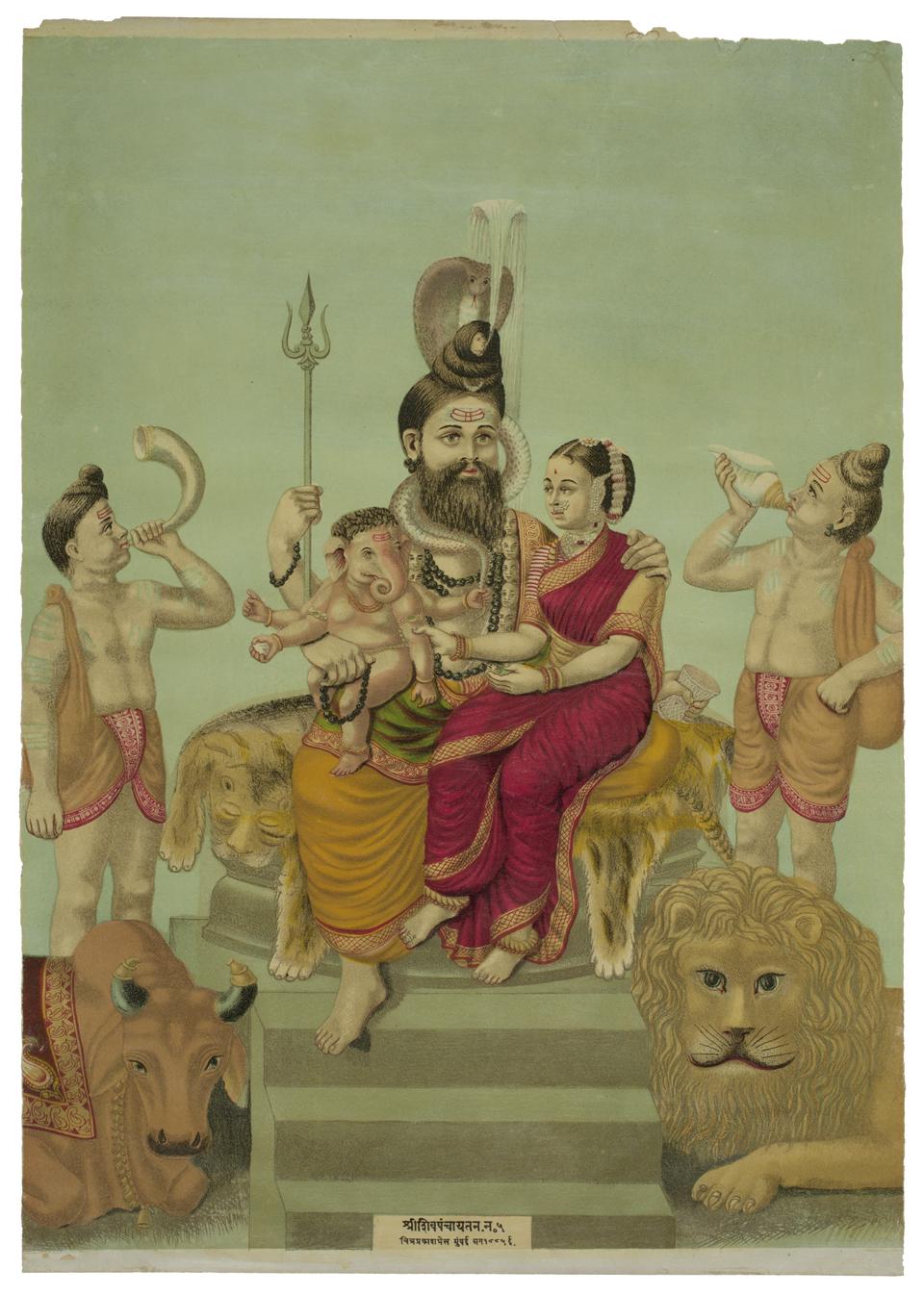 Shiva Panchayatana, 1885