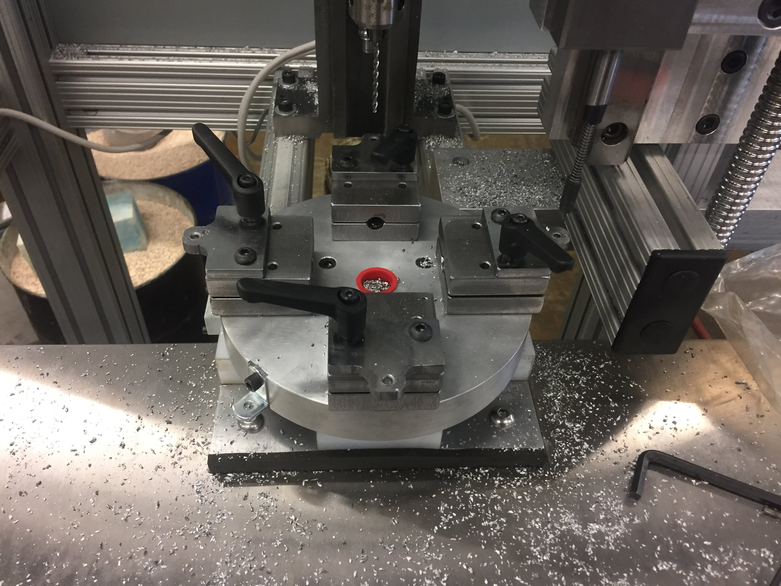 Manufactured and tested work holding plate