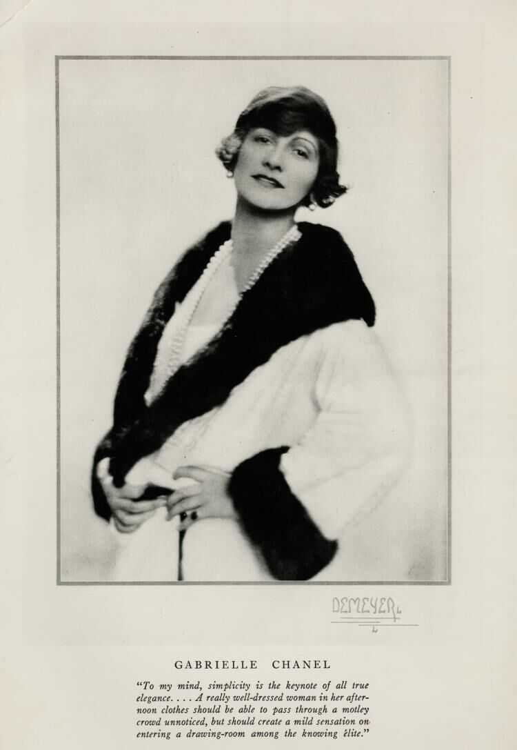 Coco Chanel, 1923 Proof Portrait Photograph