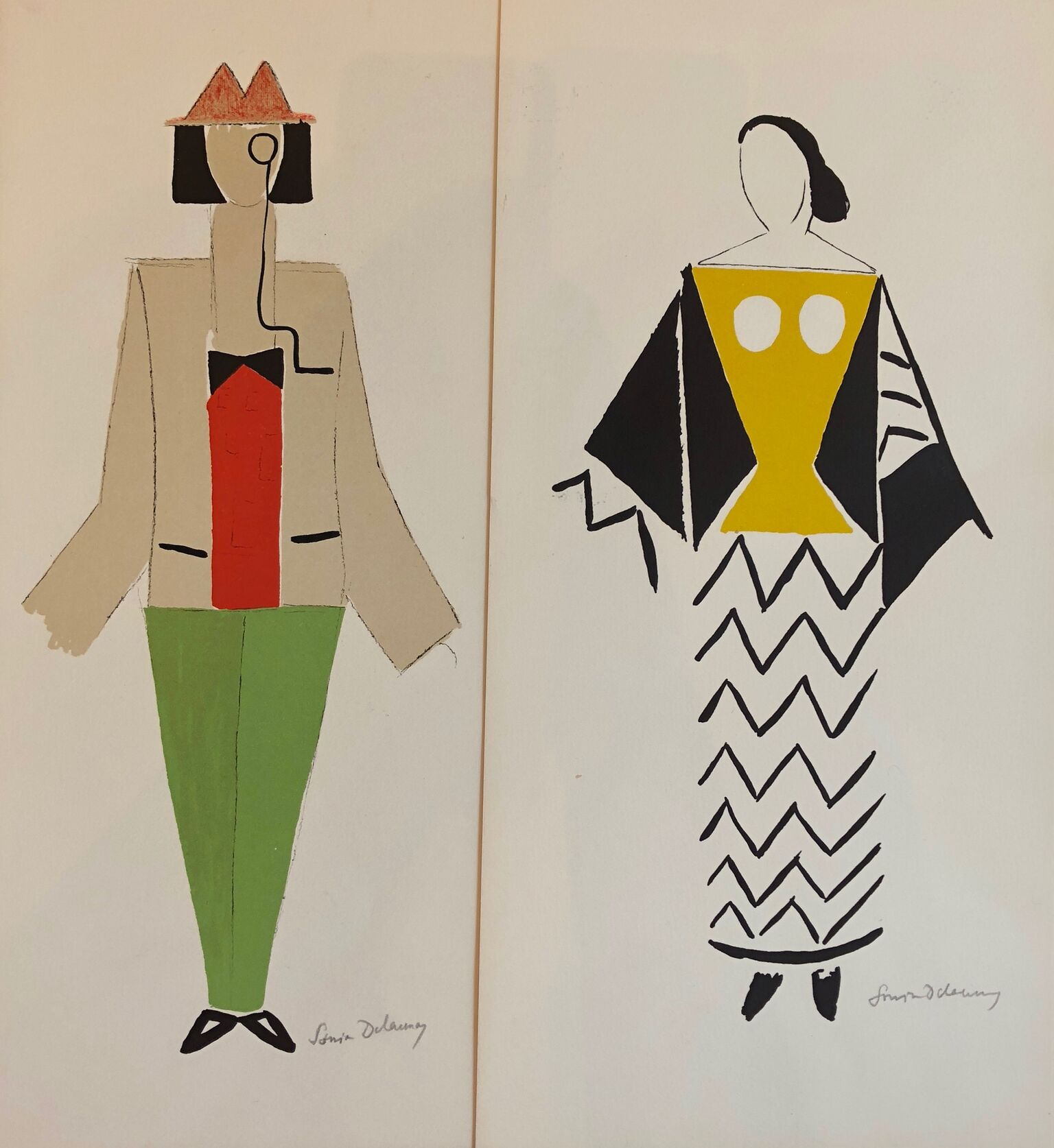 "Two Costumes from ""Le Coeur a Gaz,"" 1923/77"