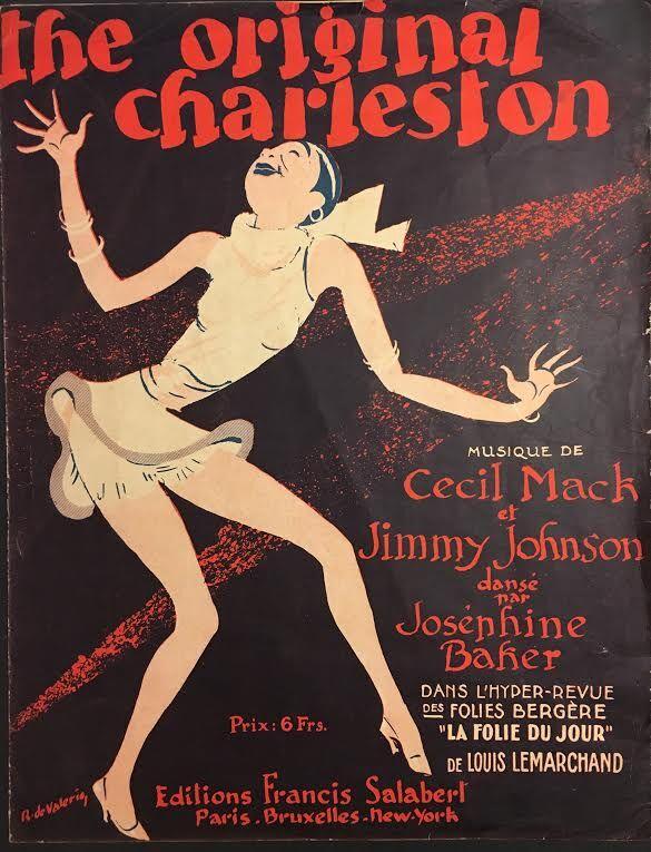 """The Original Charleston: Musique de Cecil Mack et Jimmy Johnson danse par Josephine Baker dans l'Hyper-Revue des Folies Bergere """"La Folie du Jour,"""" 1926"""