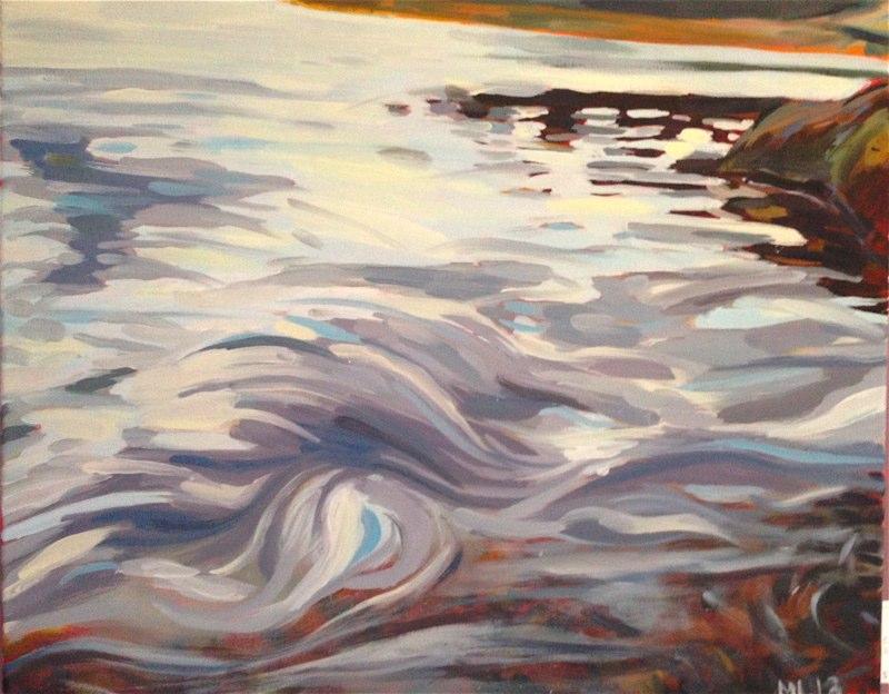 - Jordan River Swirls 16 x 20 $280