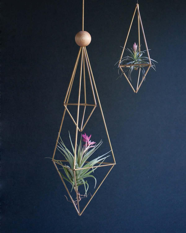 Modern Terrarium Studio - Structural Brass Planters beauty image