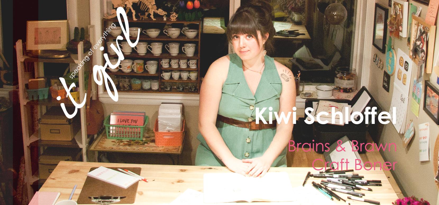 It Girl Graphic Sq- Kiwi website