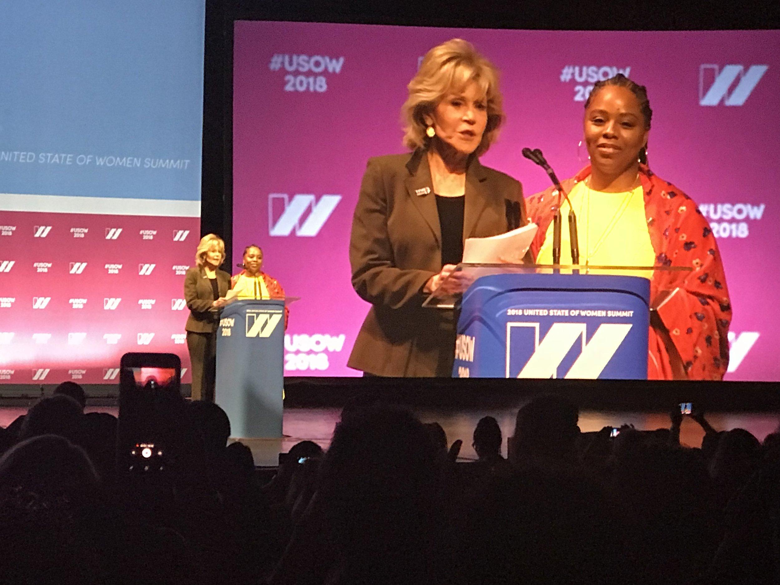 Jane Fonda and Patrisse Cullers