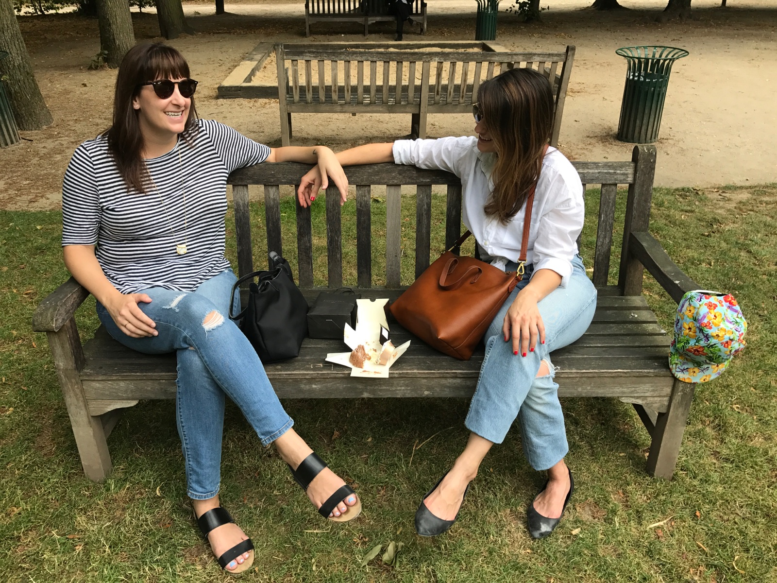 jennie and claire in paris - we spent part of summer 2017 working from paris and the south of france.JPG