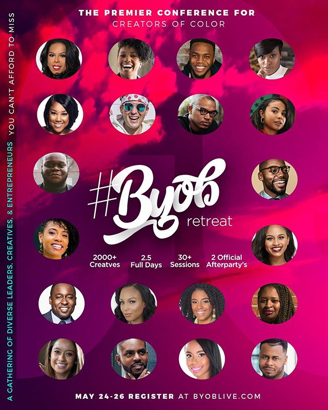 Hi! We are so excited to have @jaysmoody representing Aspiring Co. at #BYOBRetreat this year! As we expand to support other #WOC #contentcreators, we look forward to connecting and meeting folx! See y'all soon! We did a writeup of the event last year, check it out and get your tickets! #thislineupthough