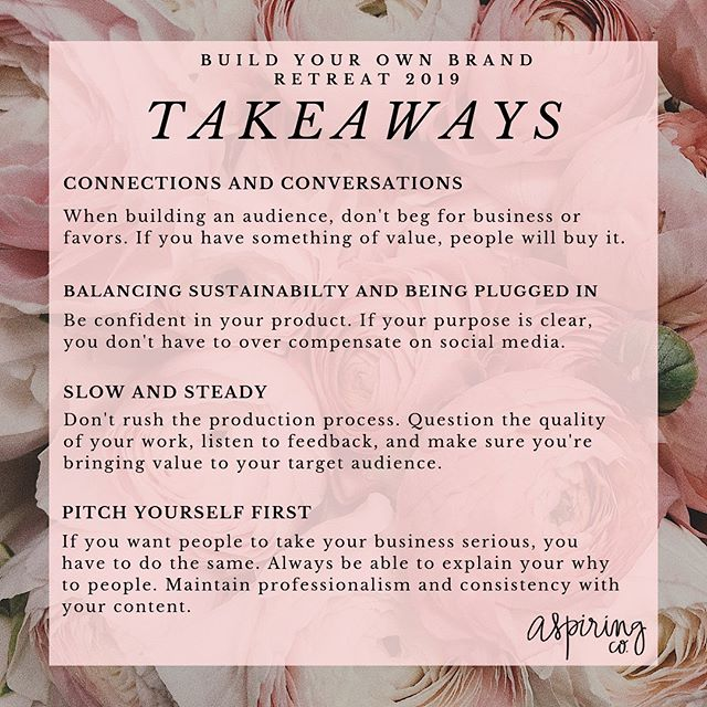 Who watched our stories over the weekend!? So grateful to have @jaysmoody attending @byoblive and giving us all the tea! If you missed her live coverage, check out the BYOB highlight reel. Here are some key takeaways from this year's event. Can't wait for next year!