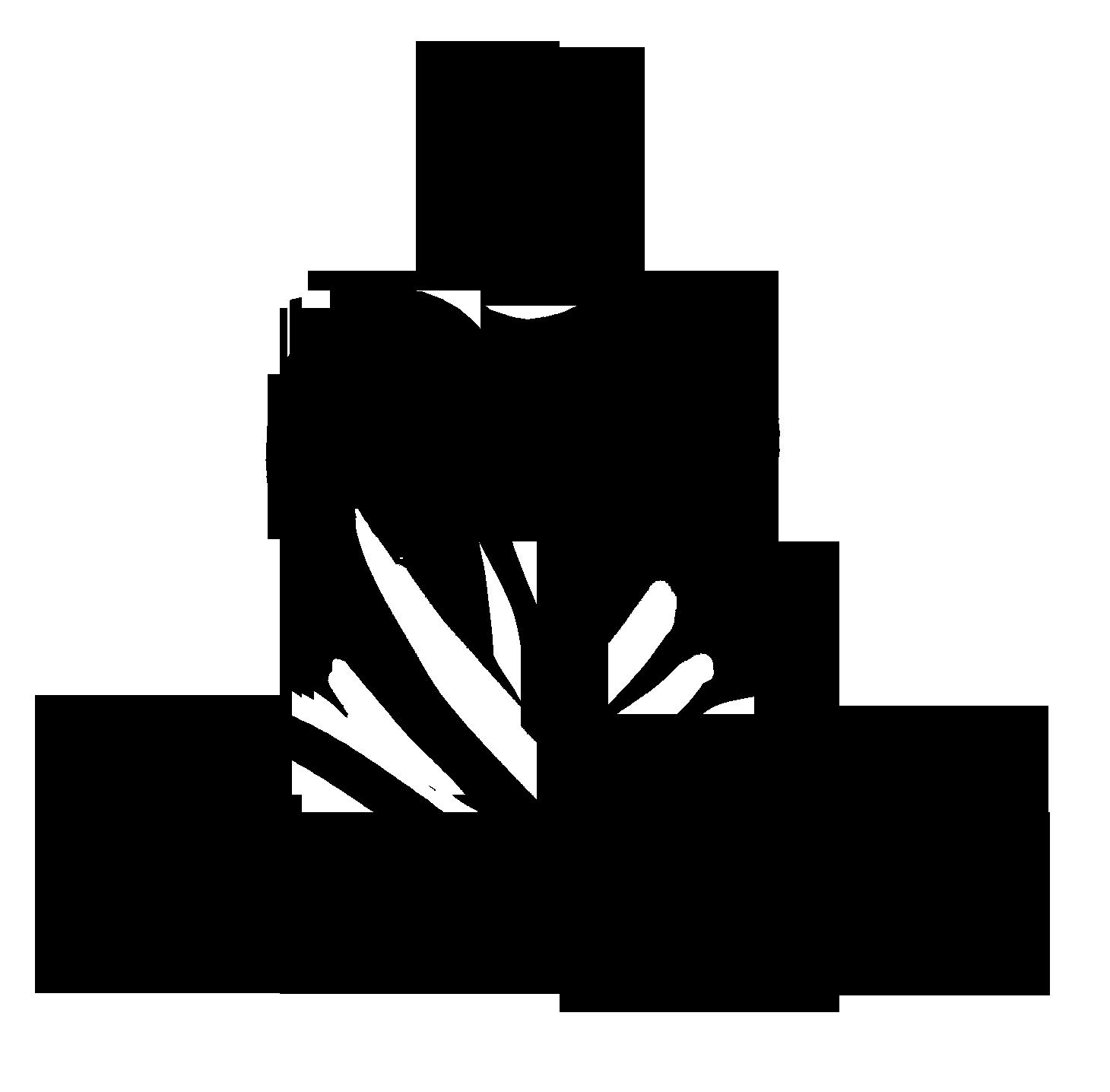 Black logo on transparent background. PNG file. Smaller Size.