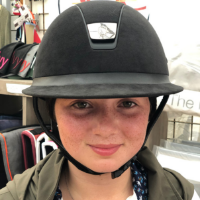 The brim should be at a 90 degree angle to your face. (Many of ours are pushed up too much). The 90 degree angle means the helmet does not get a head start off your head, and also keeps the strap in the proper position to protect you if you fall.