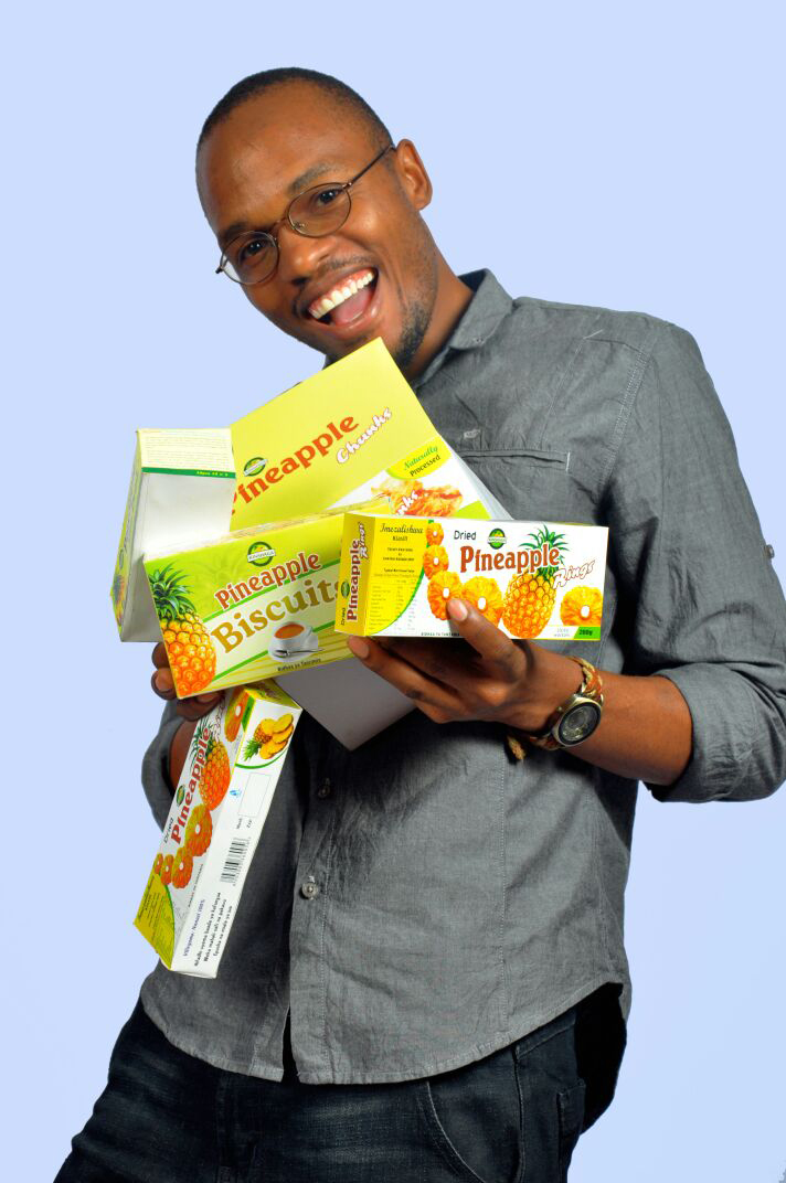 Kinshaga's pineapple biscuit line is one of the early startups from DANIDA project who is still using the SUGECO facility to process and develop his products until today.