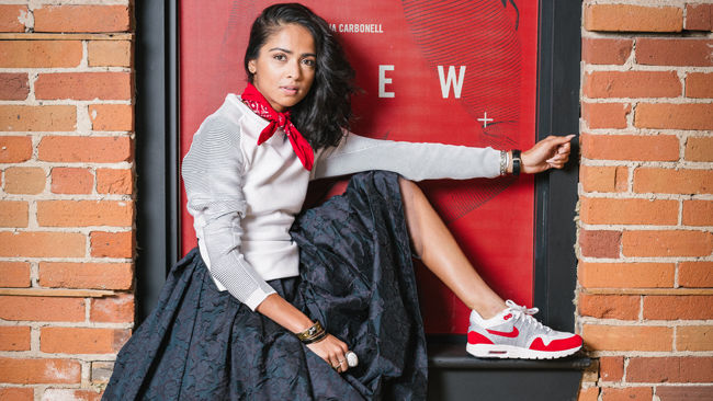 Skirts and sneakers: The perfect match
