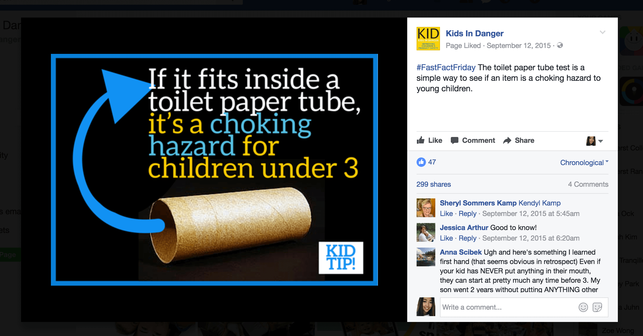 One post I designed received almost 300 shares and reached 30,000 people, making it one of the most successful posts in KID history.