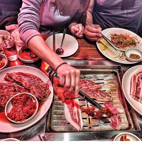 Gather your homies. Food is best enjoyed with friends ESPECIALLY all you can eat K-BBQ. Today the 5th person in your crew eats free. Thanks @hungrychopsticks for the sweet pic. #hungry #eatup #kbbq #denvereats #auroraeats #feast