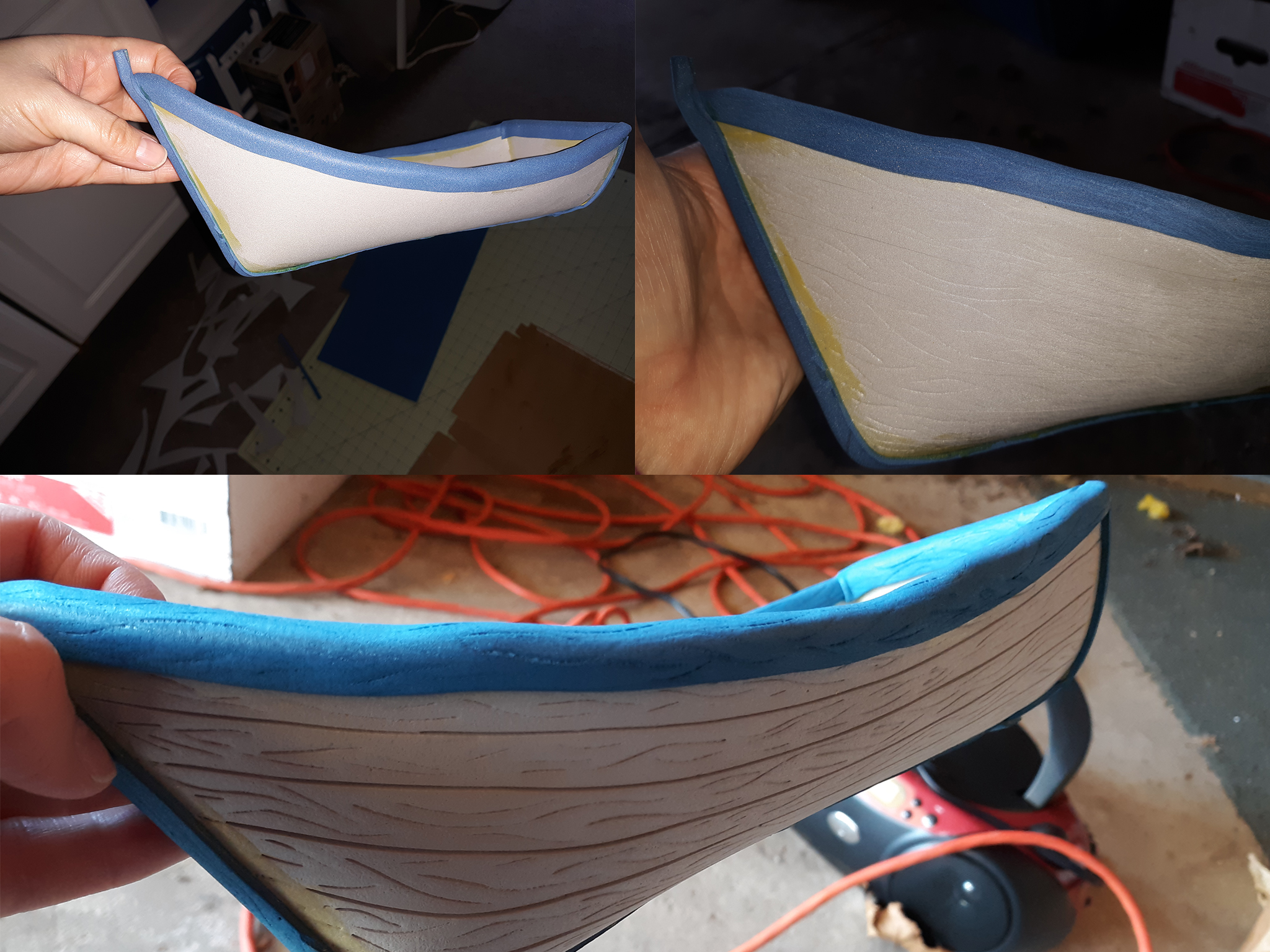 Foam Boat Before and After Details